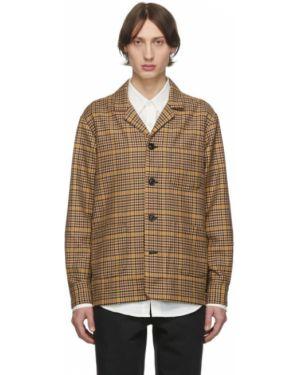 Черная длинная куртка с манжетами с карманами с воротником Schnaydermans