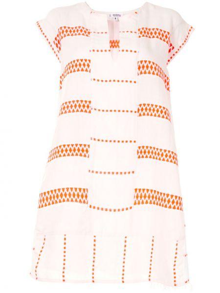 Расклешенное белое платье мини без рукавов Lemlem