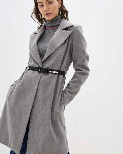 Пальто демисезонное серое Miss Miss By Valentina