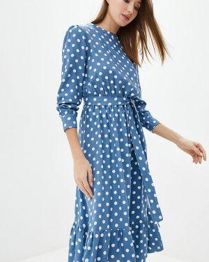 Повседневное платье синее весеннее Lilove