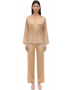 Пижама с брюками с шортами в полоску La Perla