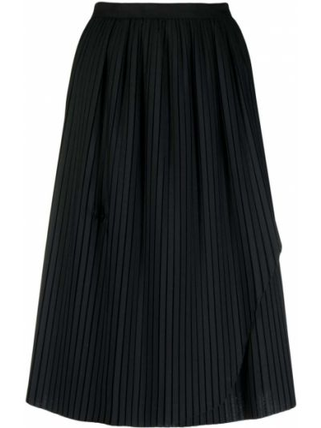 С завышенной талией плиссированная черная юбка Stefano Mortari