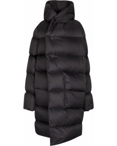 Черное стеганое пальто Rick Owens