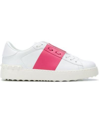 Кеды на шнуровке кожаные Valentino