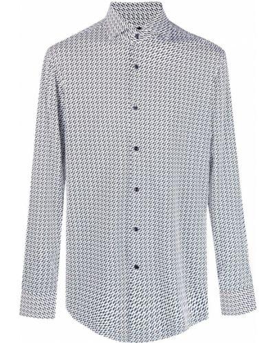 Белая рубашка с воротником с длинными рукавами Boss Hugo Boss