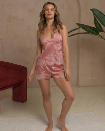 Шелковый топ - розовый Felena