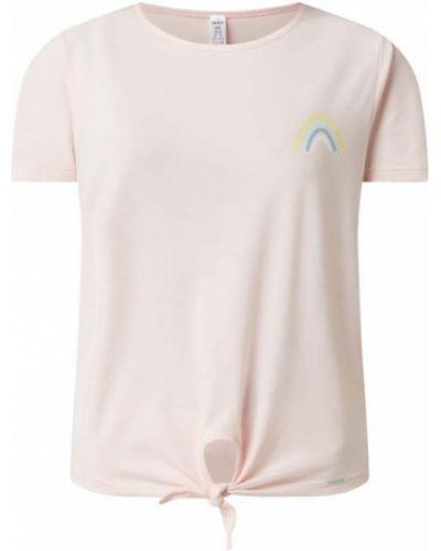 Różowa piżama bawełniana krótki rękaw Skiny