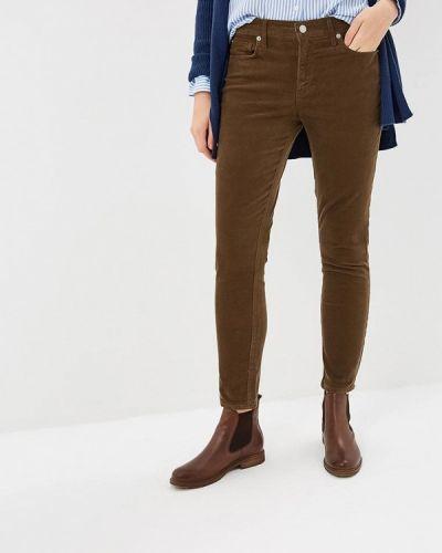 Коричневые брюки повседневные Gap