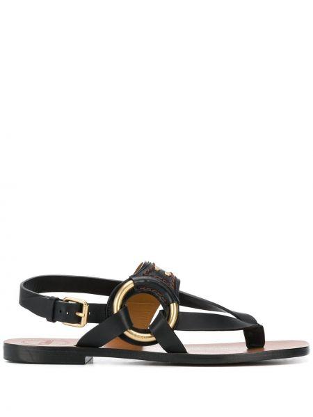 Sandały skórzany czarne Chloe