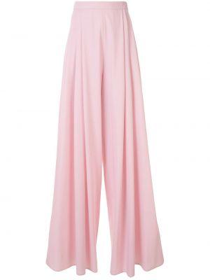 Różowe spodnie wełniane rozkloszowane Delpozo