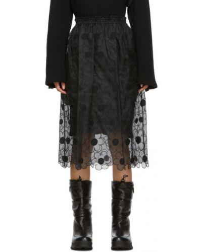 Плиссированная юбка шелковая на резинке Moncler Genius