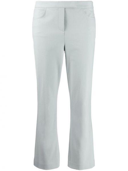 Нейлоновые расклешенные укороченные брюки с карманами узкого кроя Theory