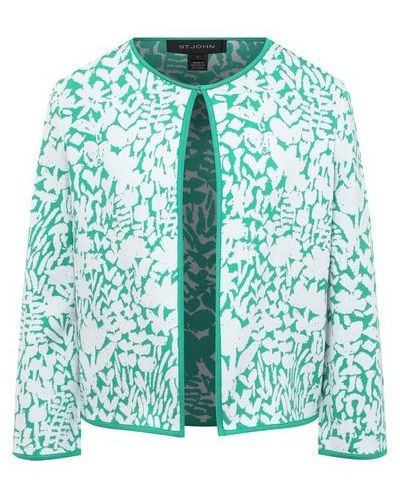 Трикотажный пиджак - зеленый St. John