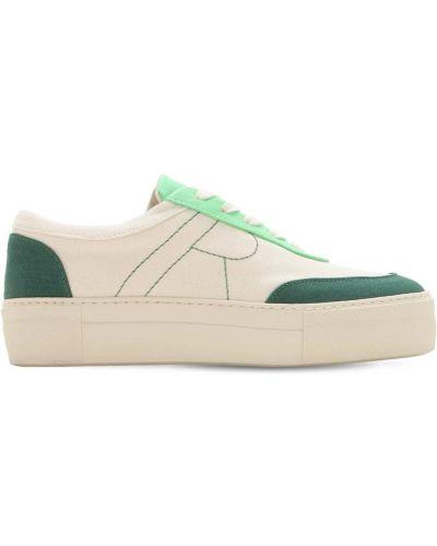 Кружевные белые кроссовки на шнурках Rejina Pyo
