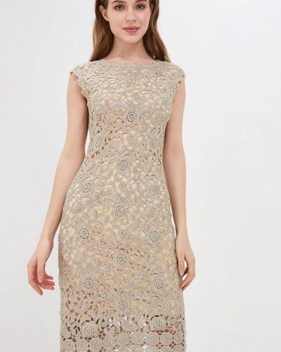 Вечернее платье золотое Lusio