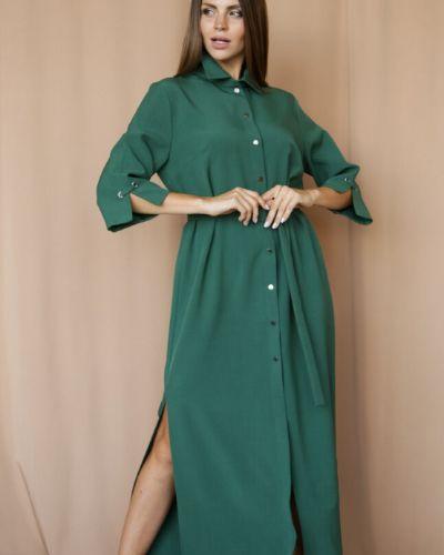 Повседневное с рукавами платье миди с поясом Ellcora