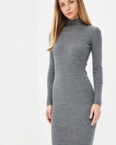 Платье серое Brusnika