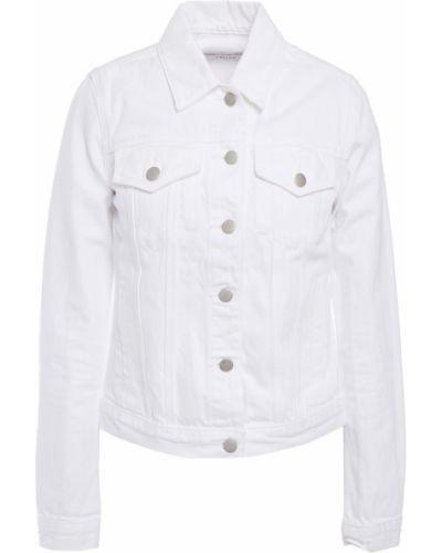 Хлопковая джинсовая куртка - белая J Brand