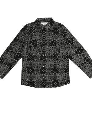 Miękki bawełna bawełna czarny koszula Bonpoint