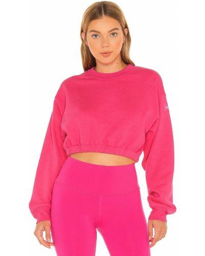 Розовый пуловер с декольте Alo