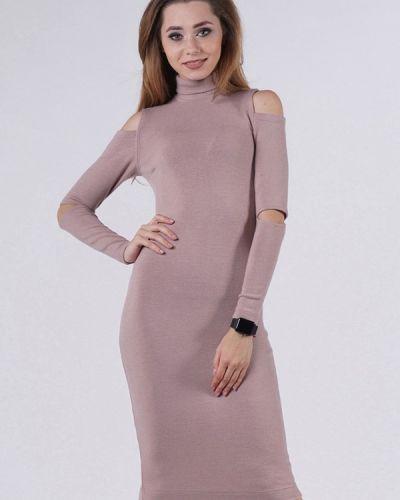 Платье осеннее розовое Evercode