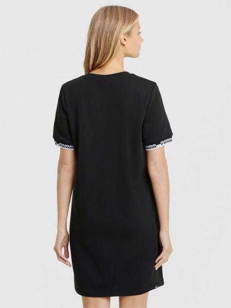 Свободное черное платье мини свободного кроя Puma