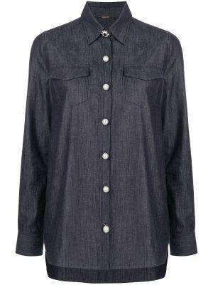 Длинная рубашка - синяя Adam Lippes