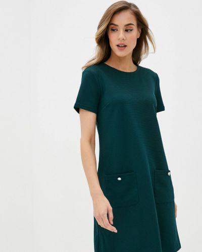 Прямое зеленое платье Zolla