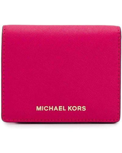 Визитница кожаная с логотипом Michael Michael Kors