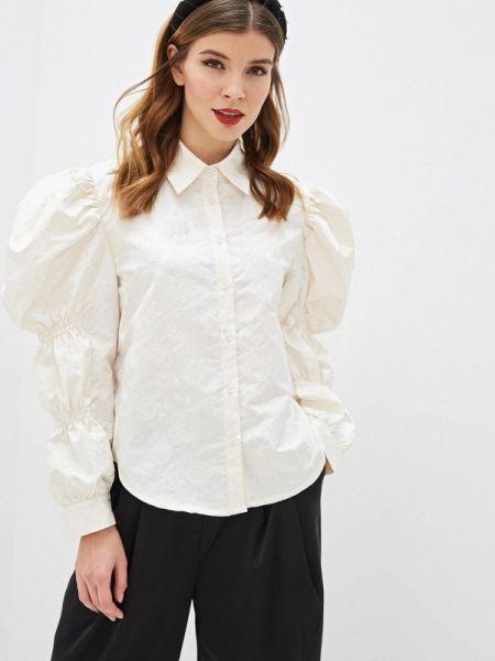 Блузка с длинным рукавом бежевый весенний Sister Jane