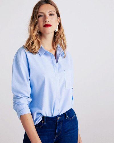 Голубая рубашка с длинным рукавом Violeta By Mango