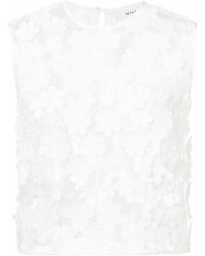 Белый топ шелковый Milly