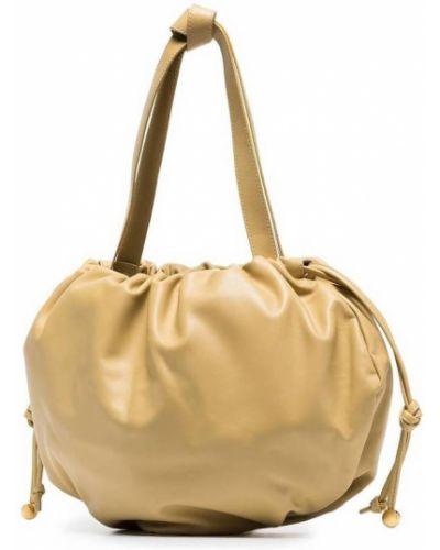 Złota torba z krótkimi uchwytami Bottega Veneta