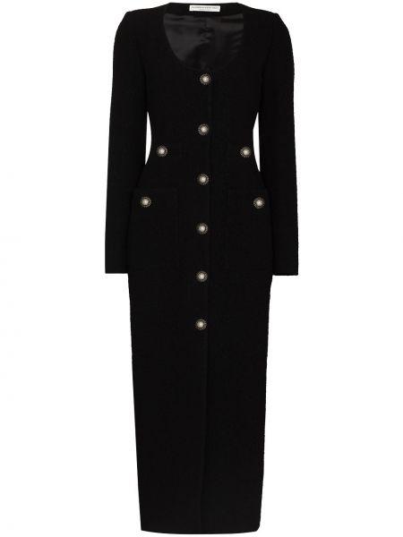 Черное платье макси длинное Alessandra Rich