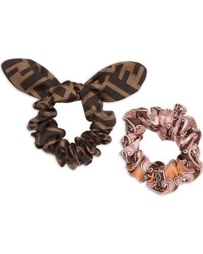 Резинка для волос розовый Fendi