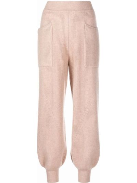 Трикотажные спортивные брюки - розовые Ulla Johnson