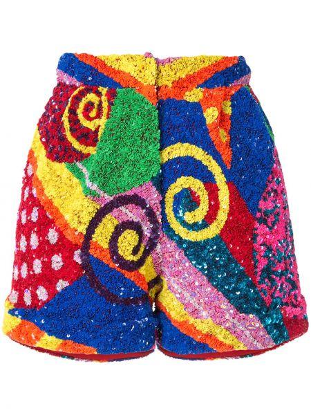 Нейлоновые шорты с карманами с потайной застежкой пэчворк Manish Arora