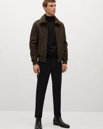 Куртка авиатор - зеленая Mango