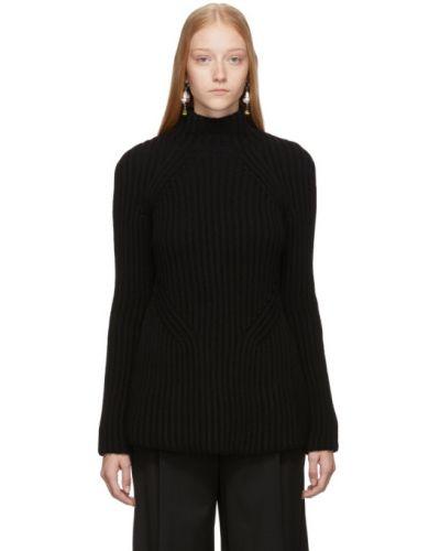 Z kaszmiru czarny golf z długimi rękawami Givenchy