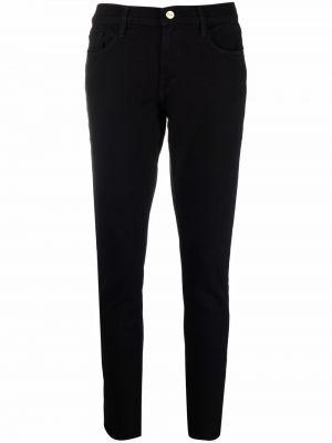 Джинсовые зауженные джинсы - черные Frame