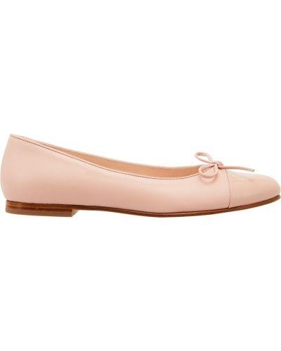 Балетки розовый кожаные Equerry