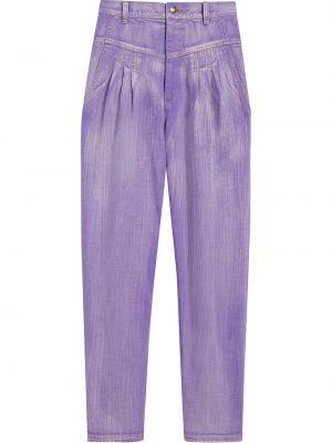 Хлопковые фиолетовые зауженные джинсы-скинни Marc Jacobs