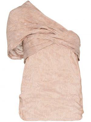 Шелковая блузка на одно плечо Chloé