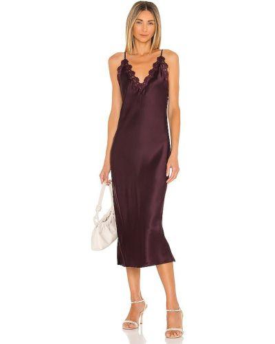 Кружевное платье - фиолетовое Cami Nyc