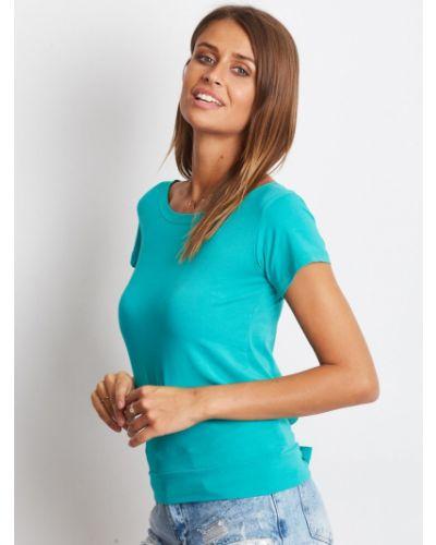 Zielony t-shirt bawełniany miejski Fashionhunters