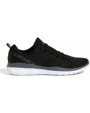 Облегченные тренировочные черные кроссовки на шнуровке Demix