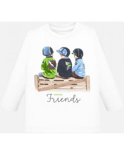 T-shirt biały Mayoral