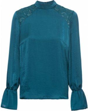 Блузка с длинным рукавом кружевная на резинке Bonprix