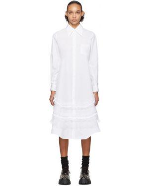Платье макси из фатина на пуговицах Comme Des Garçons
