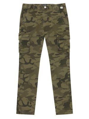 Zielony bawełna bawełna spodnie rozciągać Il Gufo